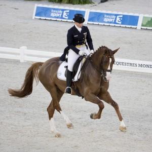 Das jüngste Pferd im deutschen Team ist auch das beste: Isabell Werth und Bella Rose werden mit 81