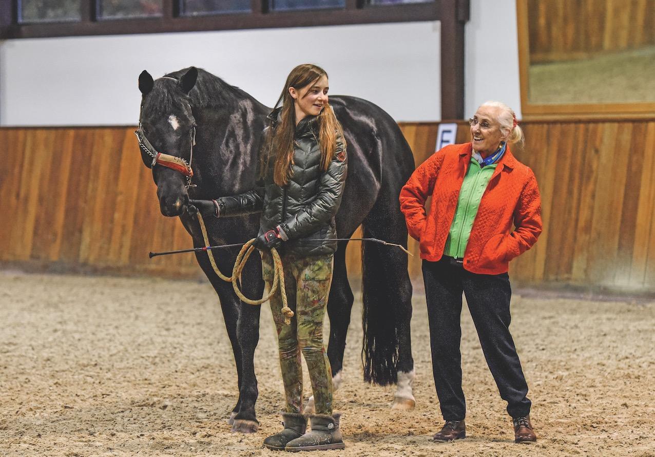 Frau pferde Pferd &